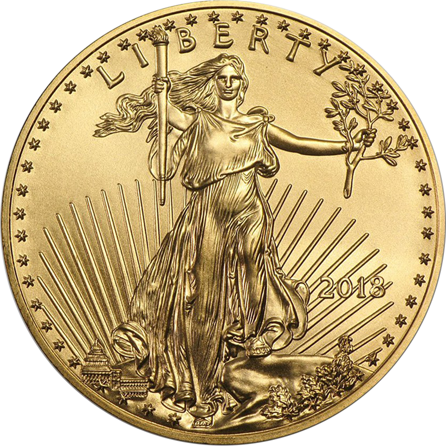2018 USA Eagle 1/2oz Gold Coin