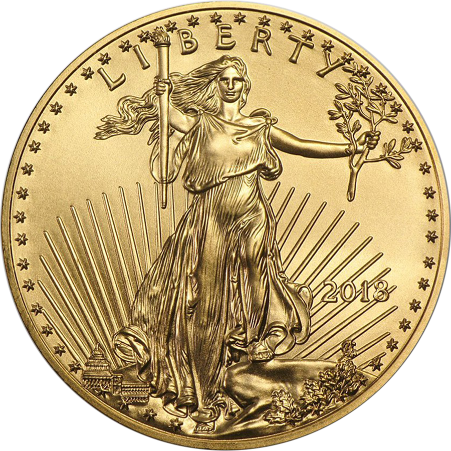 2018 USA Eagle 1/4oz Gold Coin