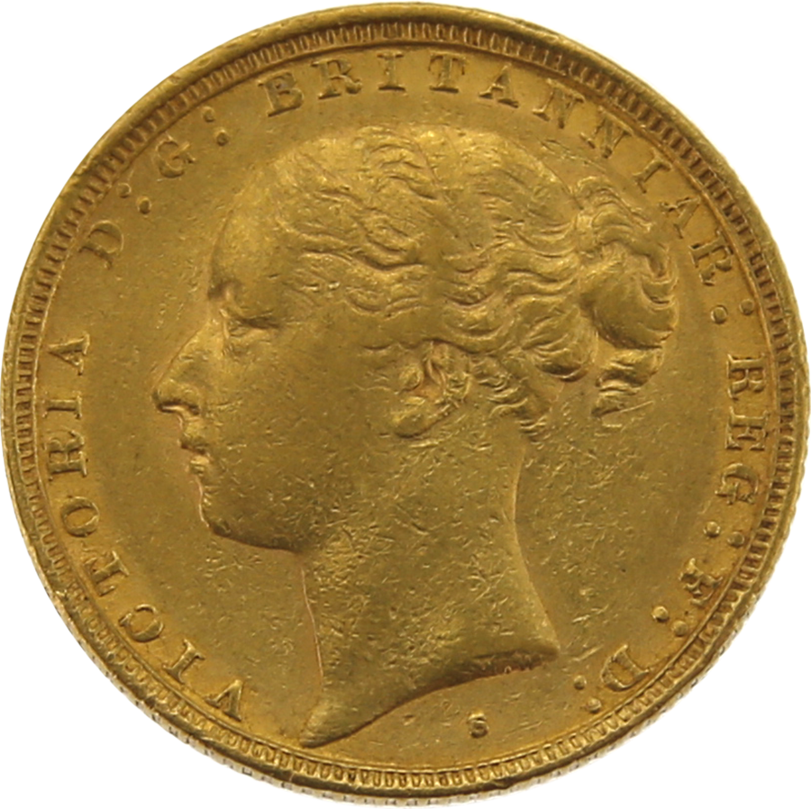 Pre-Owned 1883 Sydney Mint Victoria Young Head Full Sovereign Gold Coin