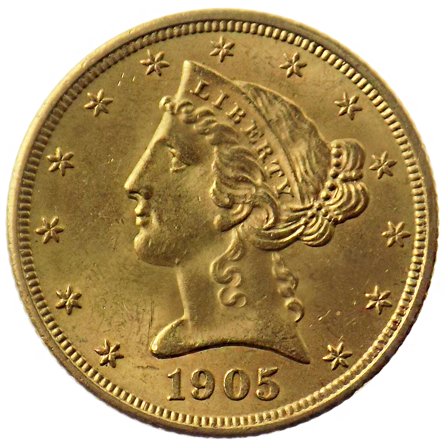 1905 Usa Liberty Head Half Eagle Gold Coins Atkinsons