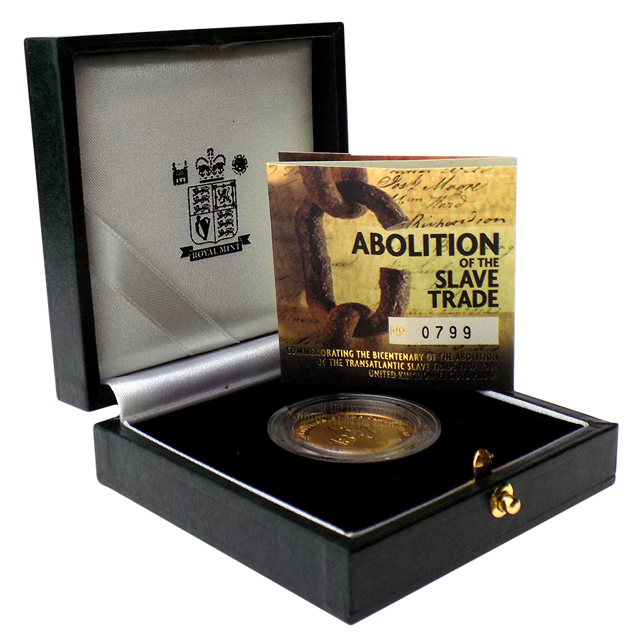 Pre-Owned 2007 UK Bicentenary of Abolition of Slave Trade Proof £2 Gold Coin