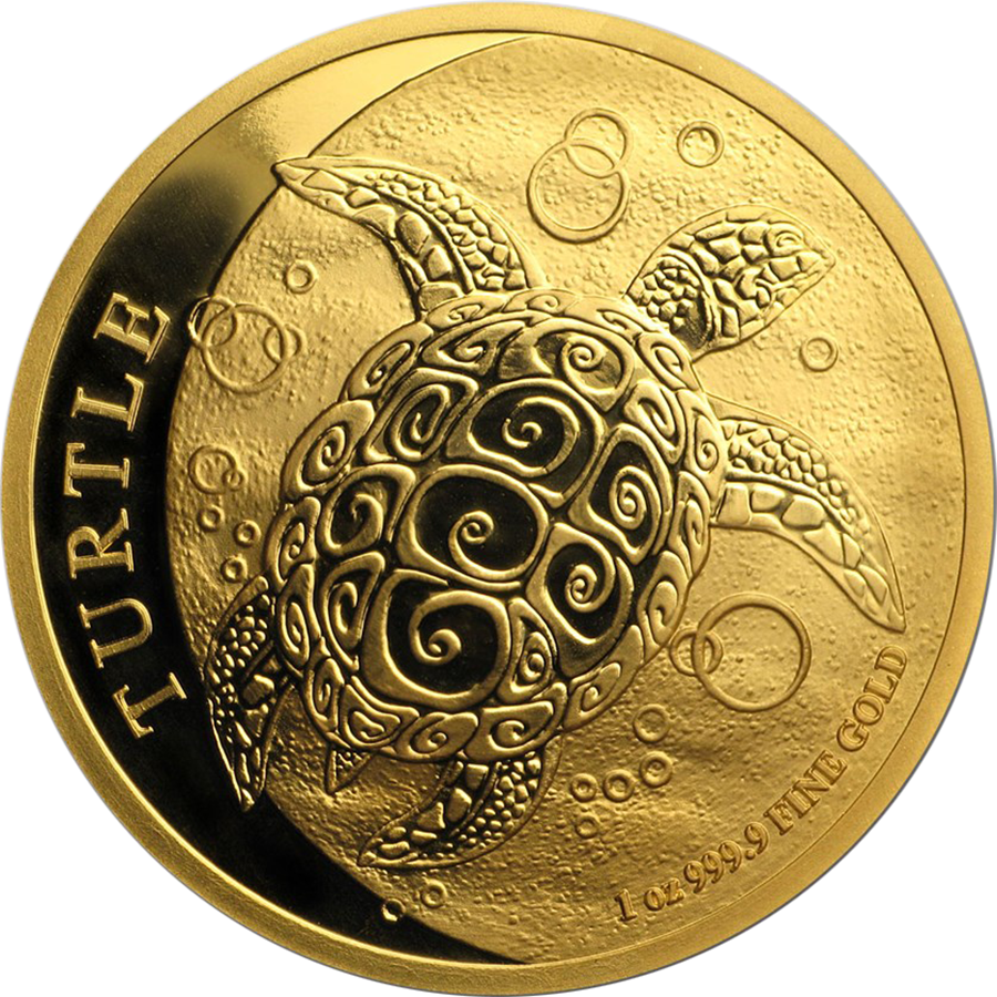 2018 Niue Hawksbill Turtle 1oz Gold Coin