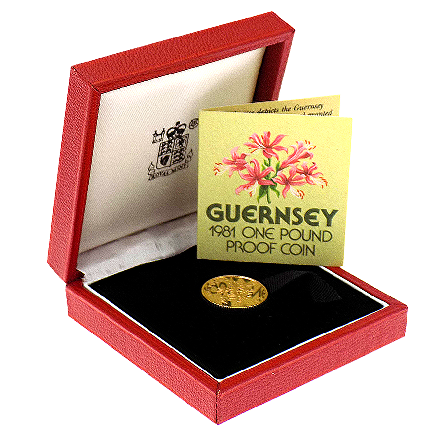 Pre-Owned 1981 Guernsey £1 Proof Gold Coin