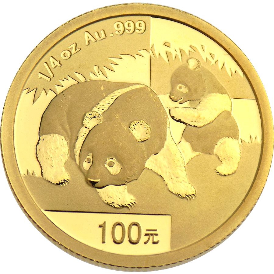 Pre-Owned 2008 Chinese Panda 1/4oz Gold Coin