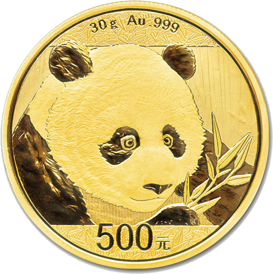 Pre-Owned 2018 Chinese Panda 30g Gold Coin