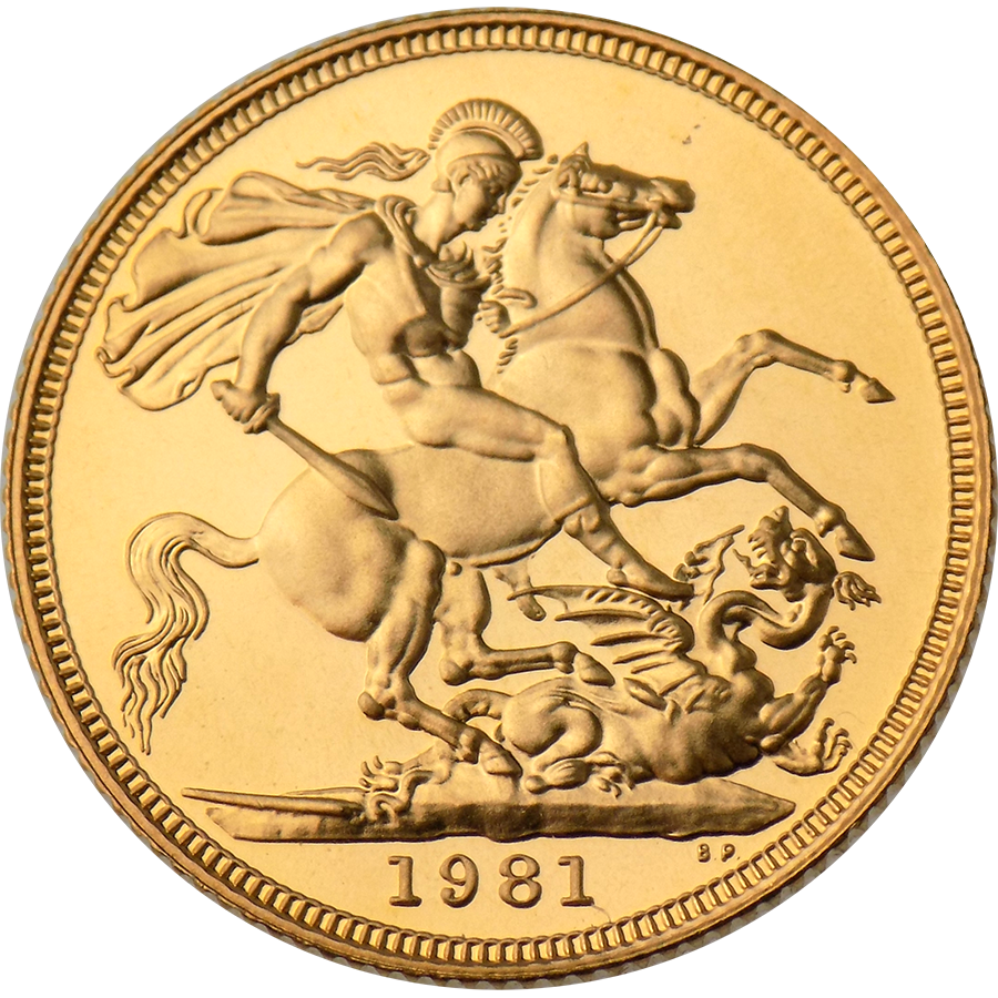 Pre-Owned 1981 UK Full Sovereign Gold Coin (Image 2)