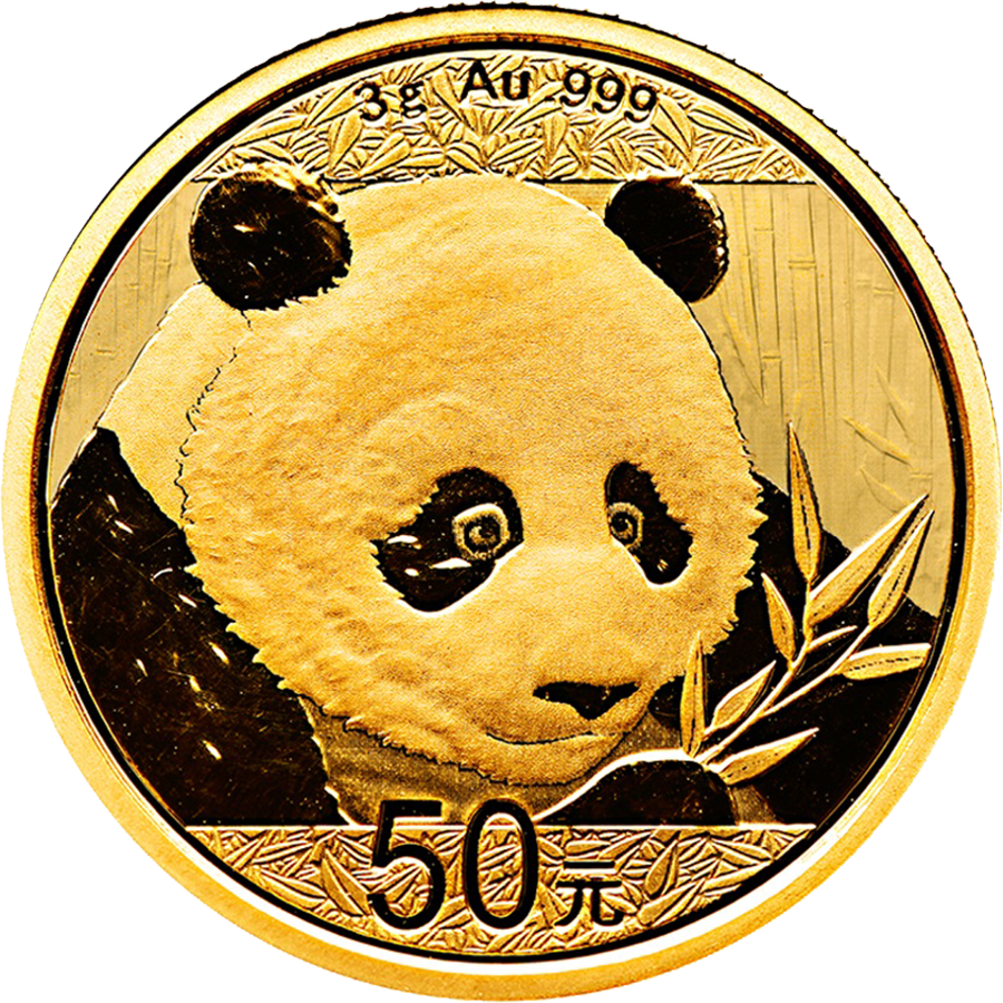 Pre-Owned 2018 Chinese Panda 3g Gold Coin