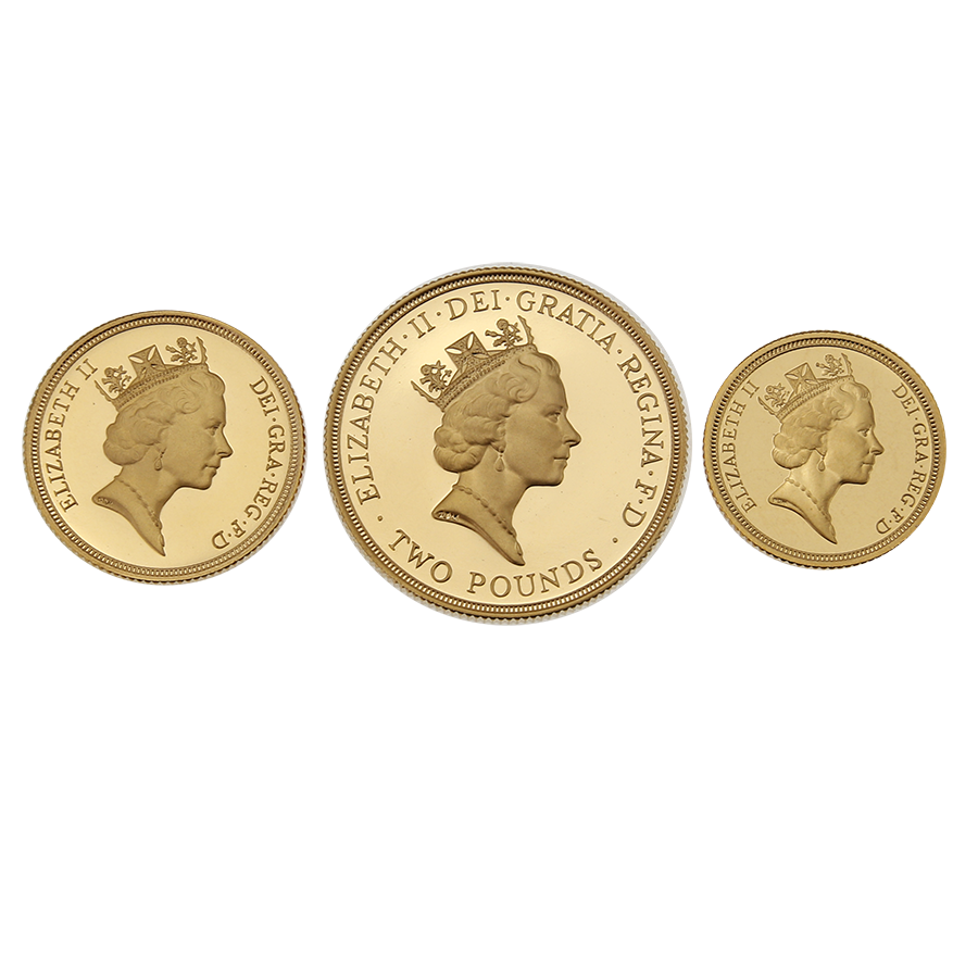 Pre-Owned 1994 UK Sovereign Gold Proof 3-Coin Set (Image 3)