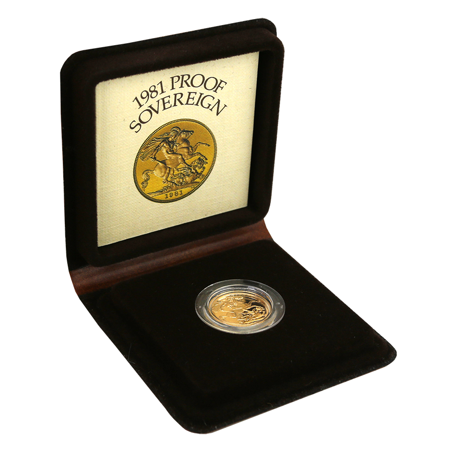 Pre-Owned 1981 UK Full Sovereign Proof Gold Coin