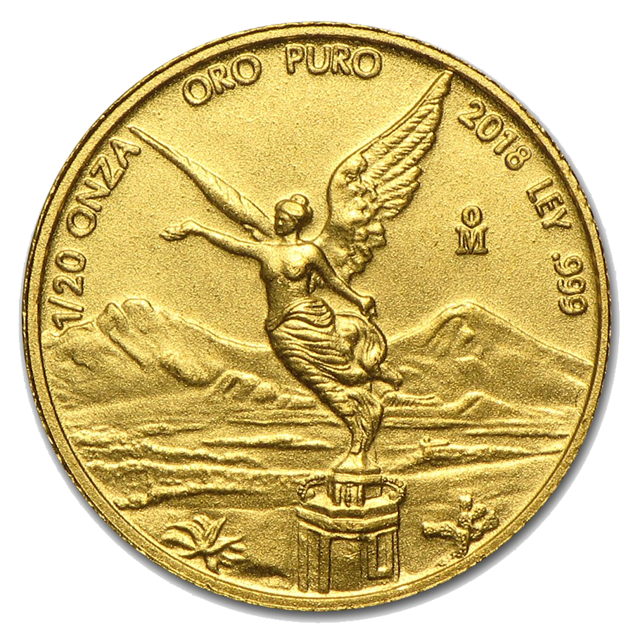 2018 Mexican Libertad 1/20oz Gold Coin