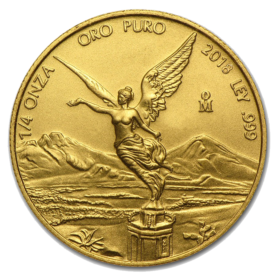 2018 Mexican Libertad 1/4oz Gold Coin