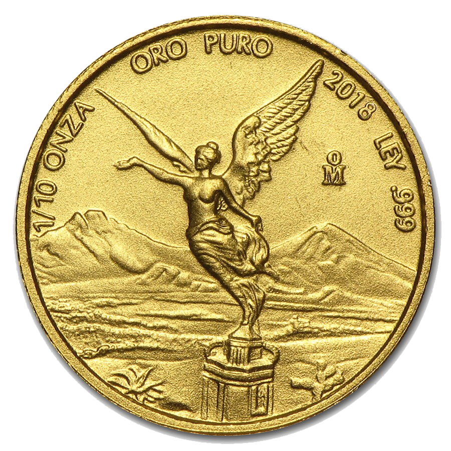 2018 Mexican Libertad 1/10oz Gold Coin