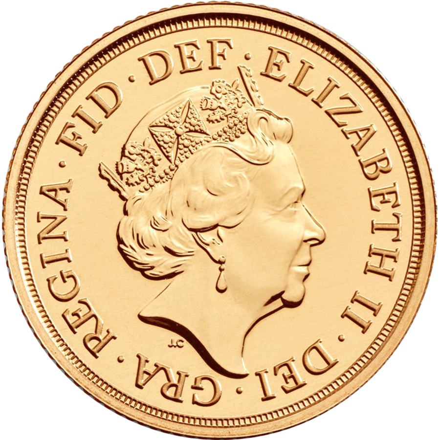 2019 UK Half Sovereign Gold Coin (Image 2)