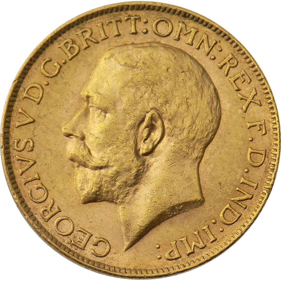 Pre-Owned 1925 Perth Mint Full Sovereign Gold Coin