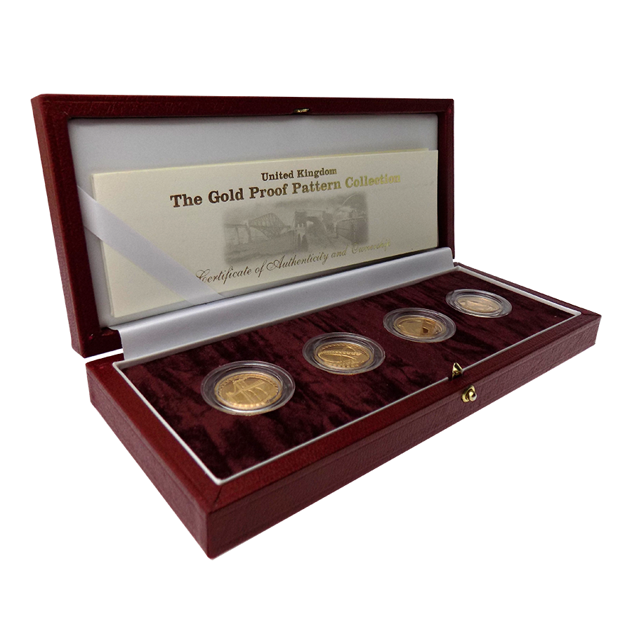 Pre-Owned 2003 UK Bridge Pattern Proof 4 Gold Coin Set