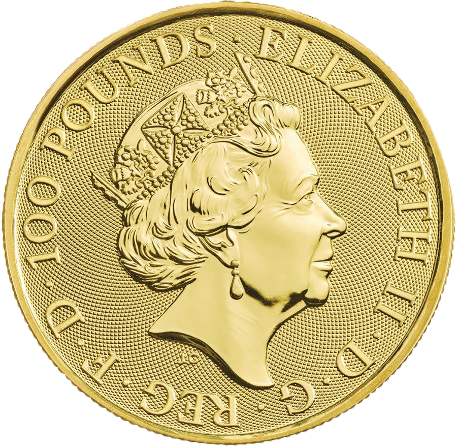 2019 UK Queen's Beasts The Falcon of the Plantagenets 1oz Gold Coin (Image 2)