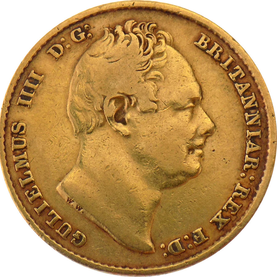 Pre-Owned 1837 King William IV Shield Sovereign