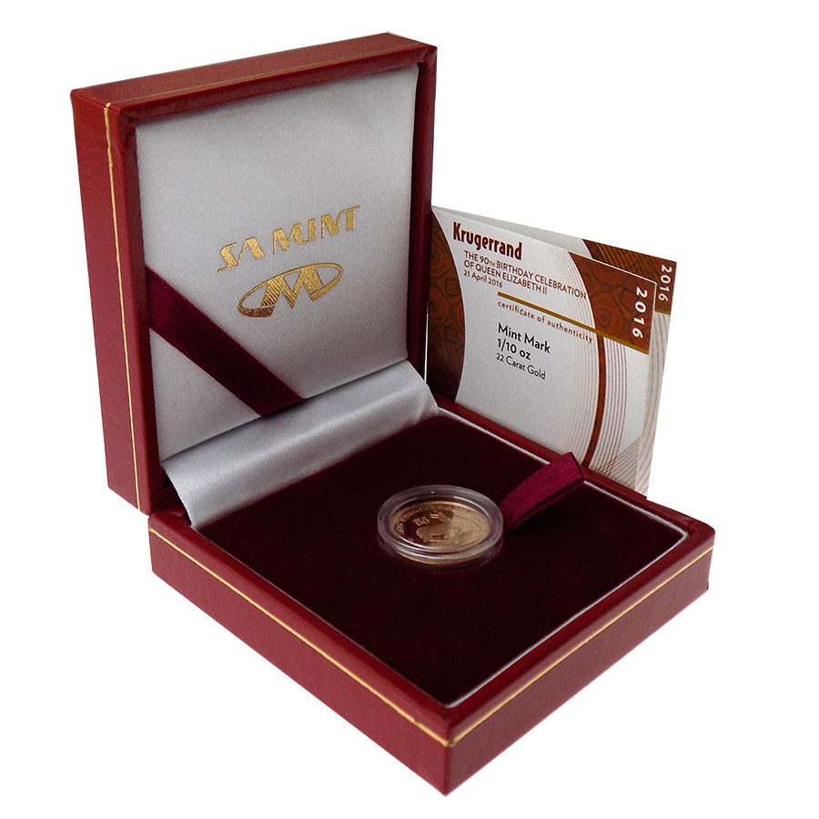 Pre-Owned 2016 South African Krugerrand Privy Birthday Celebration Proof Design gold coin