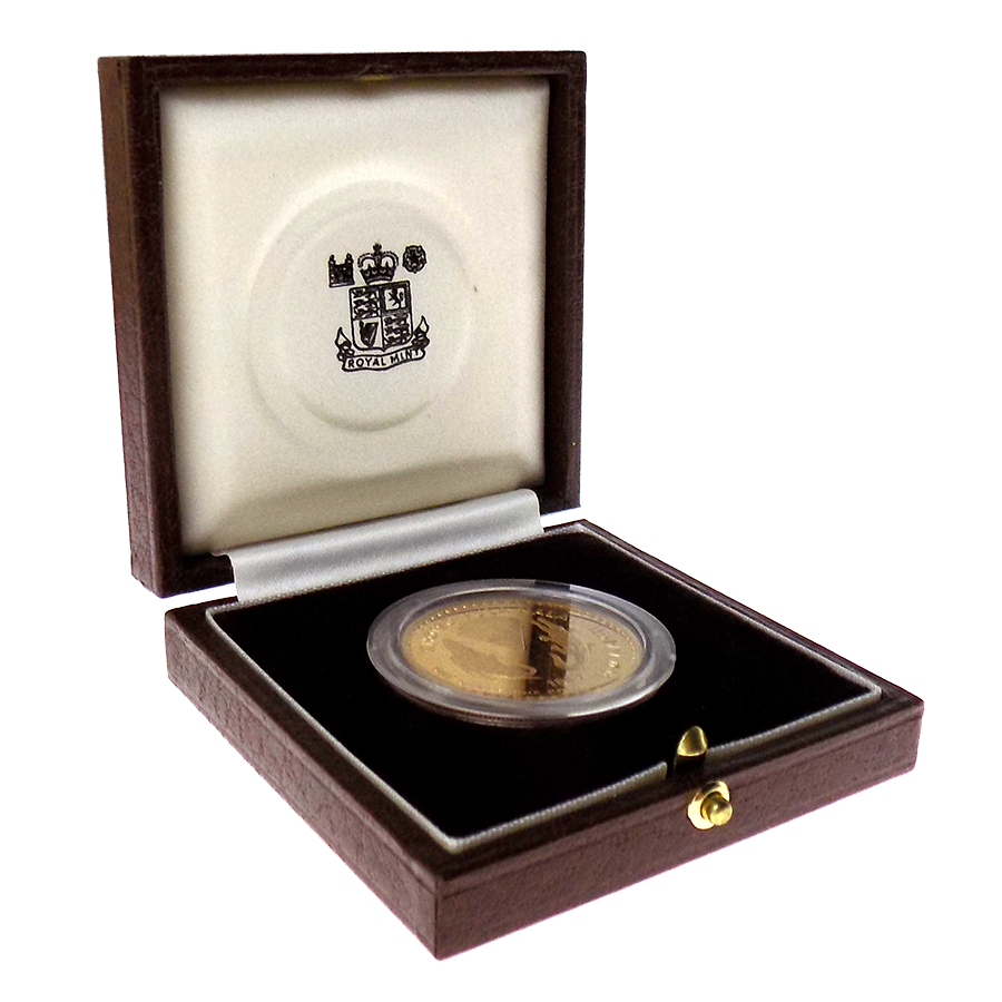 Pre-Owned 1980 Lesotho 110th Anniversary Moshoeshoe I Proof Design 1oz Gold Coin