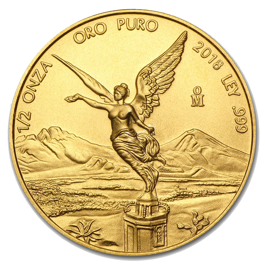 Pre-Owned 2018 Mexican Libertad 1/2oz Gold Coin