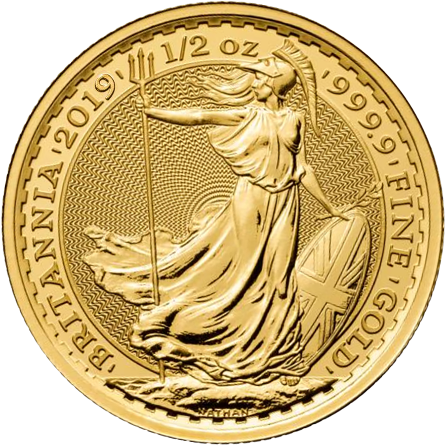 2019 UK Britannia 1/2oz Gold Coin