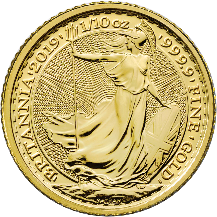2019 UK Britannia 1/10oz Gold Coin