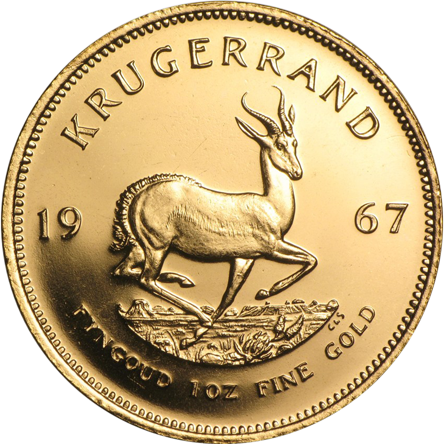 Pre-Owned 1967 South African Krugerrand 1oz Gold Coin