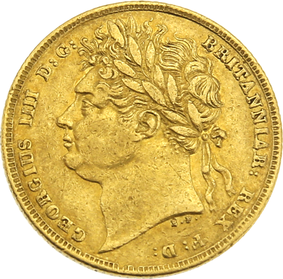 Pre-Owned 1822 George IV Laureate Head Full Sovereign