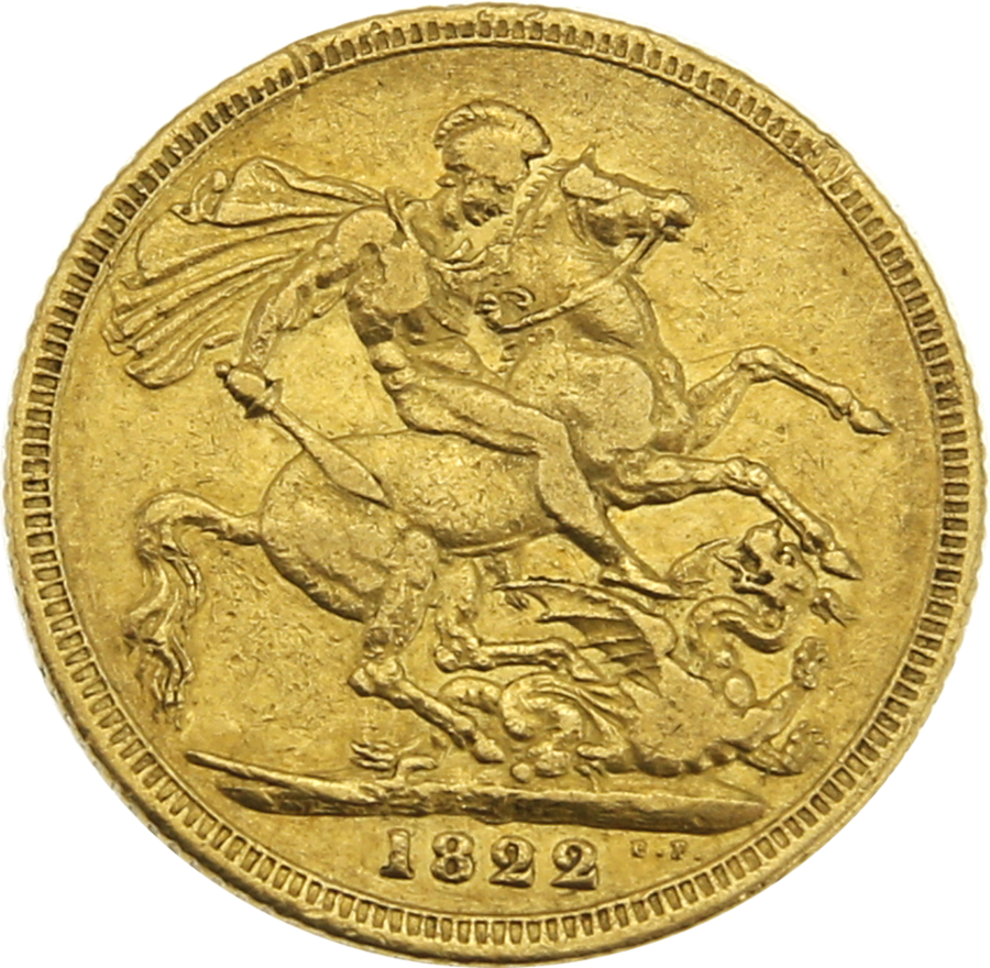 Pre-Owned 1822 George IV Laureate Head Full Sovereign (Image 2)