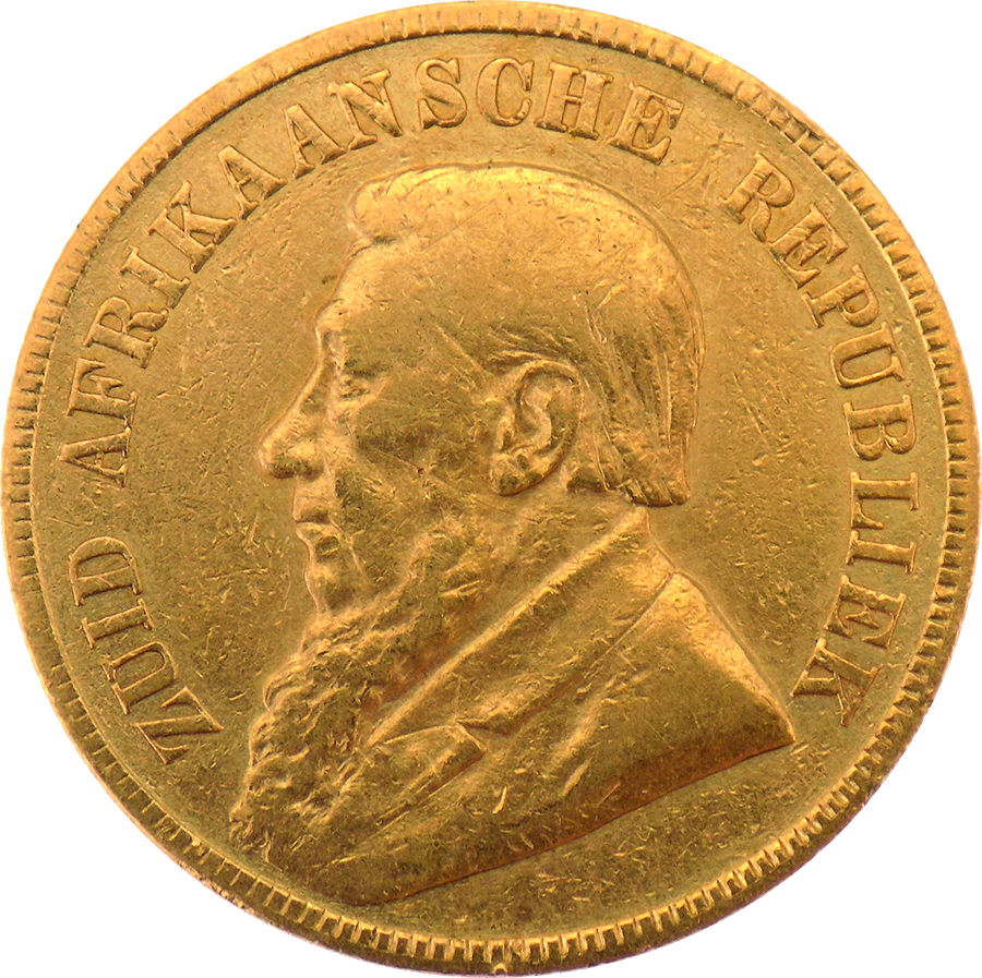 Pre-Owned 1896 South African 1 Pond Gold Coin