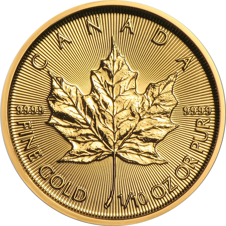 2019 Canadian Maple 1/10oz Gold Coin
