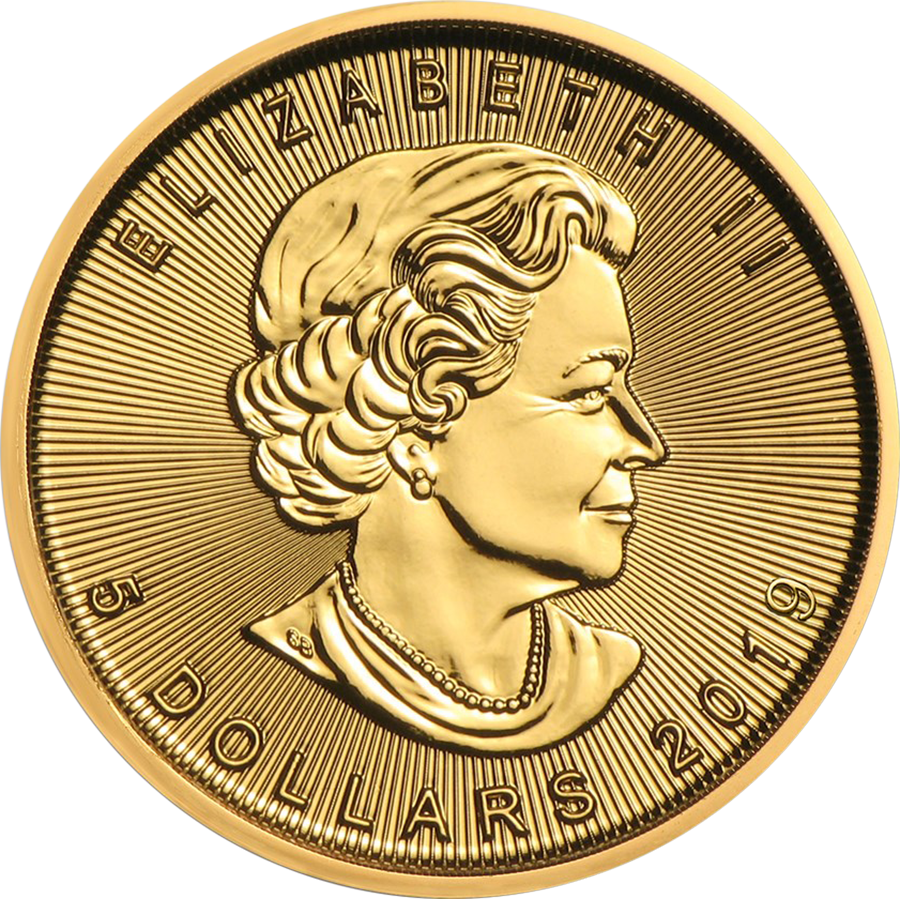 2019 Canadian Maple 1/10oz Gold Coin (Image 2)