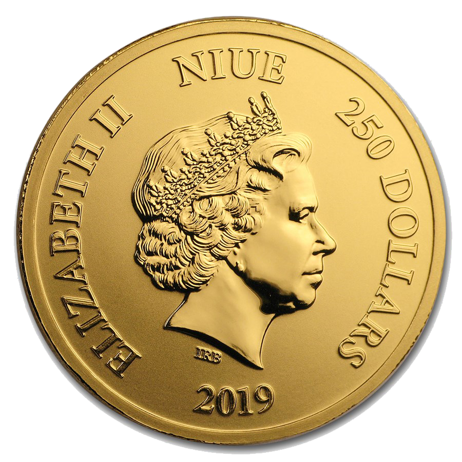 2019 Niue Hawksbill Turtle 1oz Gold Coin (Image 2)
