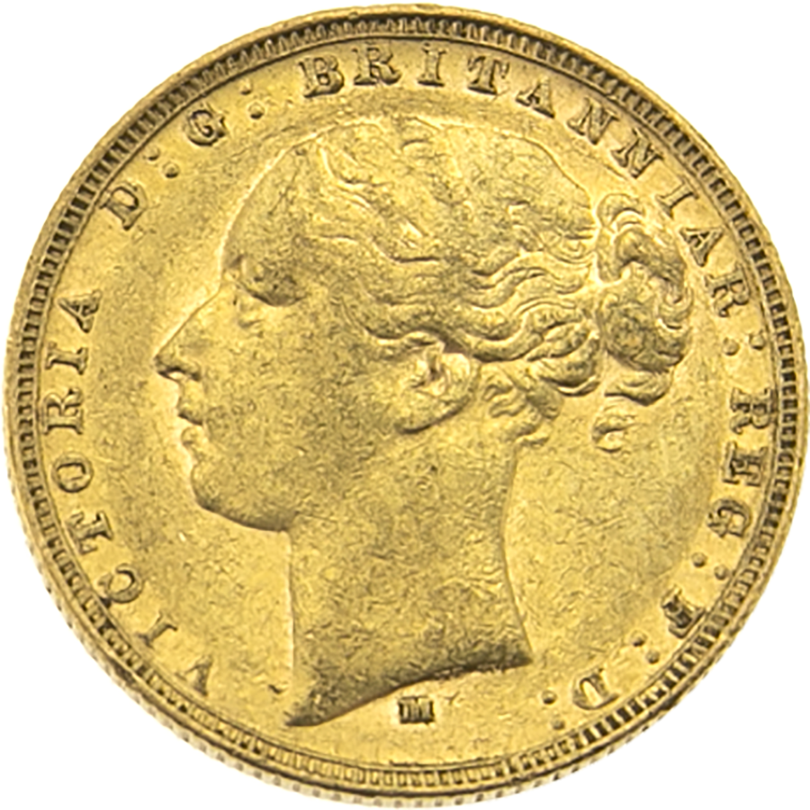 Pre-Owned 1882 Melbourne Mint Victoria Young Head Full Sovereign Gold Coin