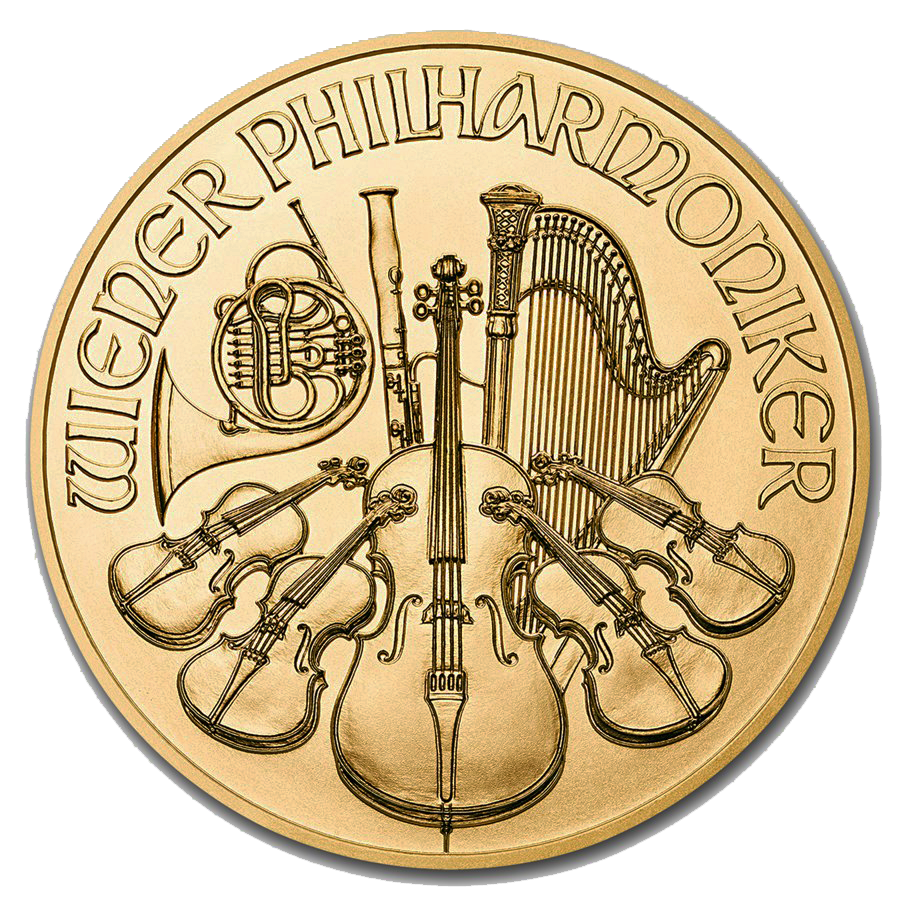 2019 Austrian Philharmonic 1/25oz Gold Coin