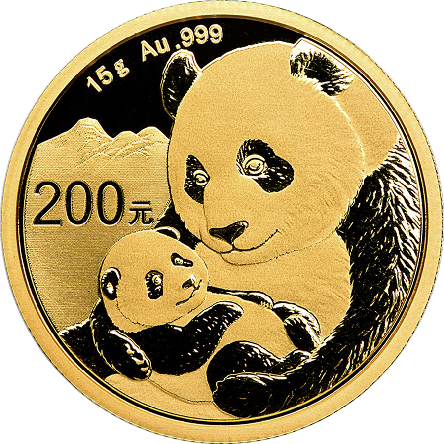 2019 Chinese Panda 15g Gold Coin