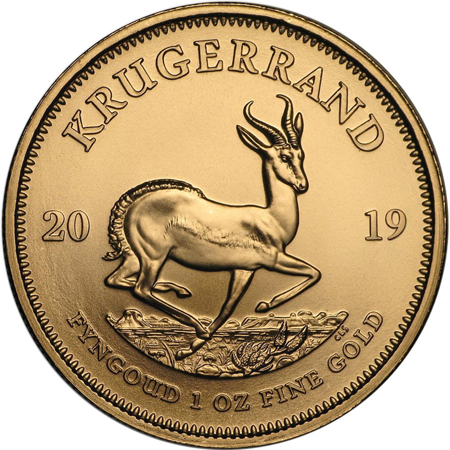 2019 South African Krugerrand 1oz Gold Coin