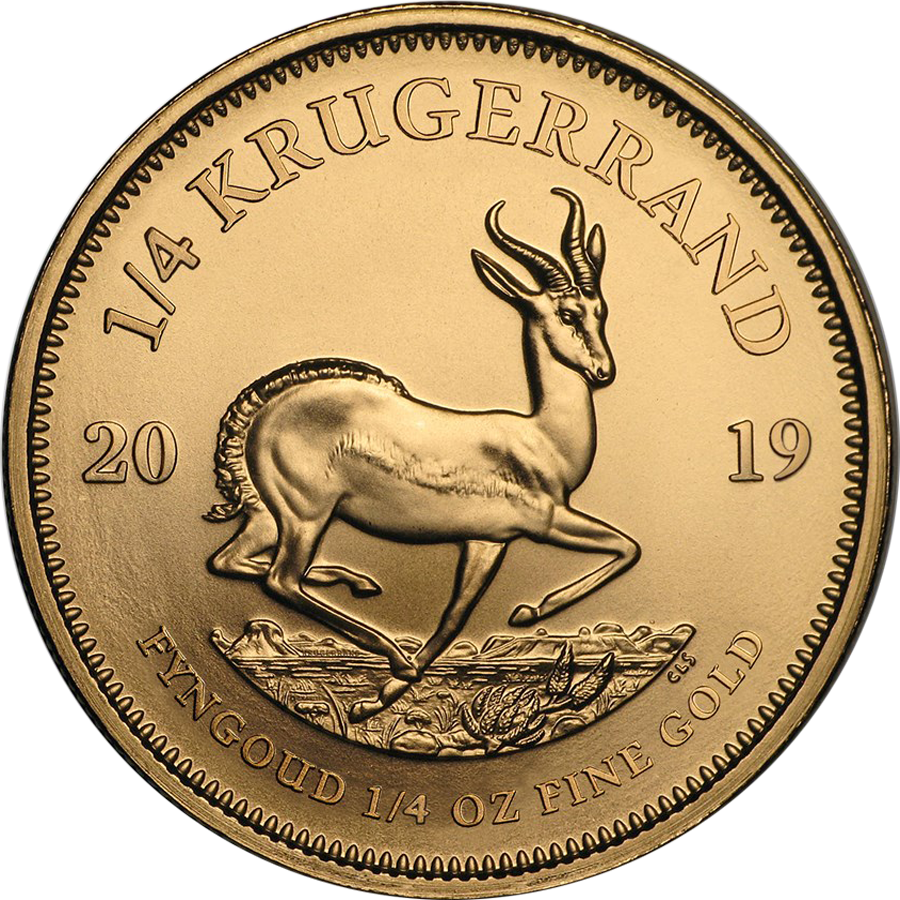 2019 South African Krugerrand 1/4oz Gold Coin