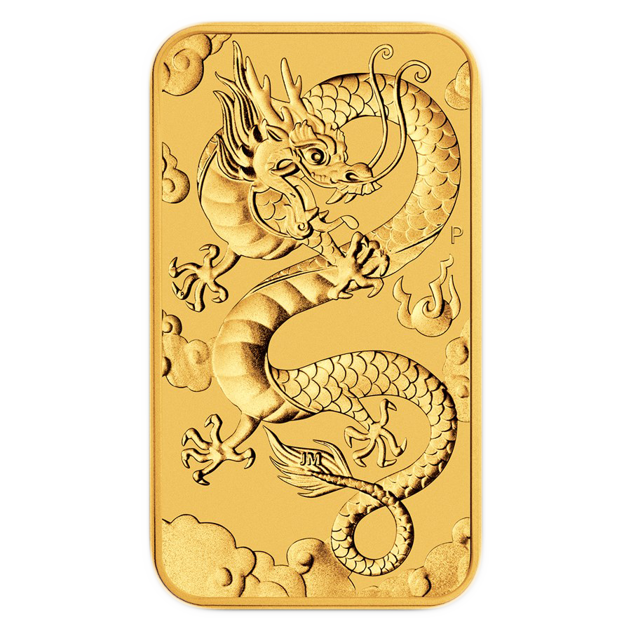 2019 Australian Dragon Rectangular 1oz Gold Coin