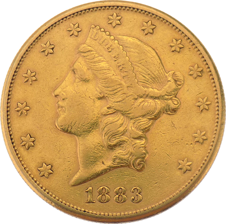 Pre-Owned 1883 USA $20 Double Eagle Gold Coin