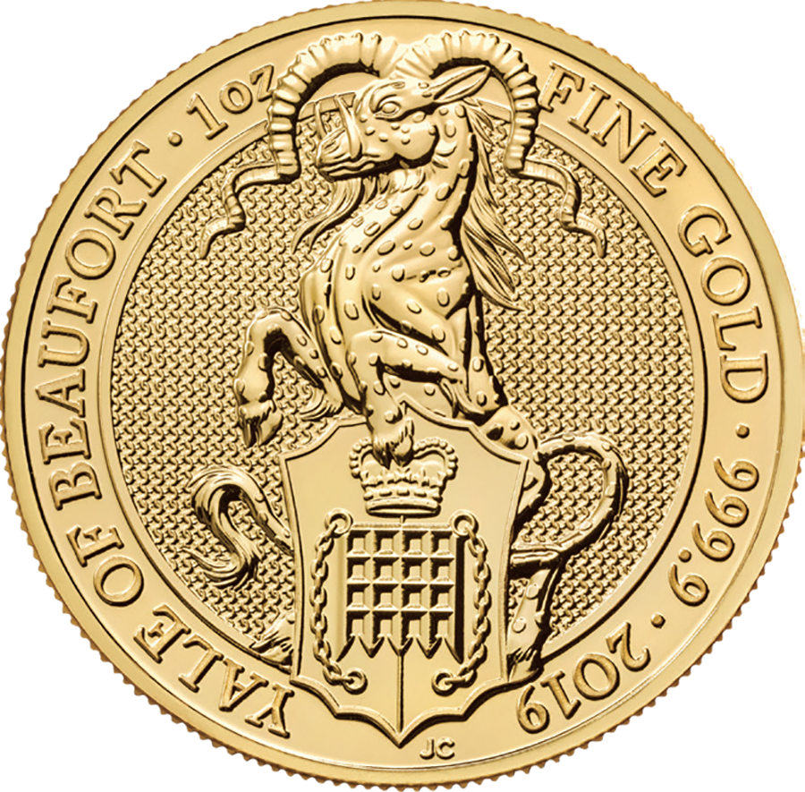 2019 UK Queen's Beasts The Yale of Beaufort 1oz Gold Coin (Image 1)