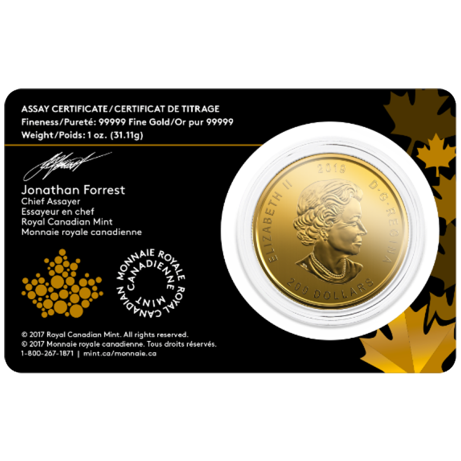 2019 Canadian Moose 1oz Gold Coin (Image 2)