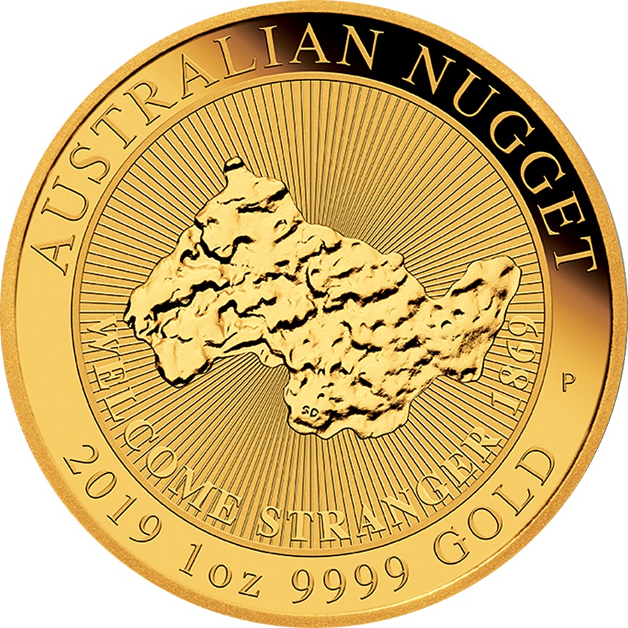 2019 Australian Welcome Stranger Nugget 1oz Gold Coin