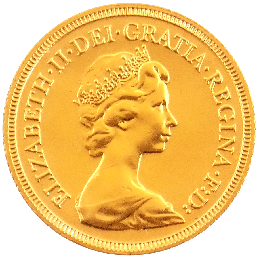 Pre-Owned Elizabeth II Decimal  Portrait Full Sovereign Gold Coin - Mixed Dates