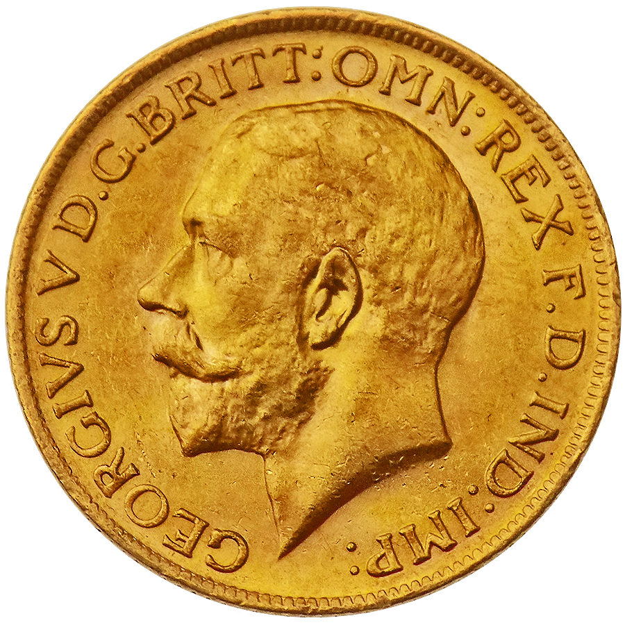 Pre-Owned UK George V Full Sovereign Gold Coin - Mixed Dates
