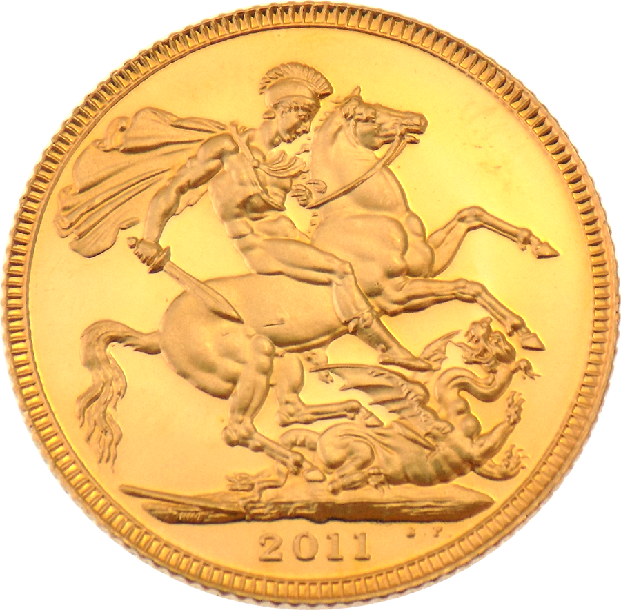 Pre-Owned 2011 UK Full Sovereign Proof Design Gold Coin