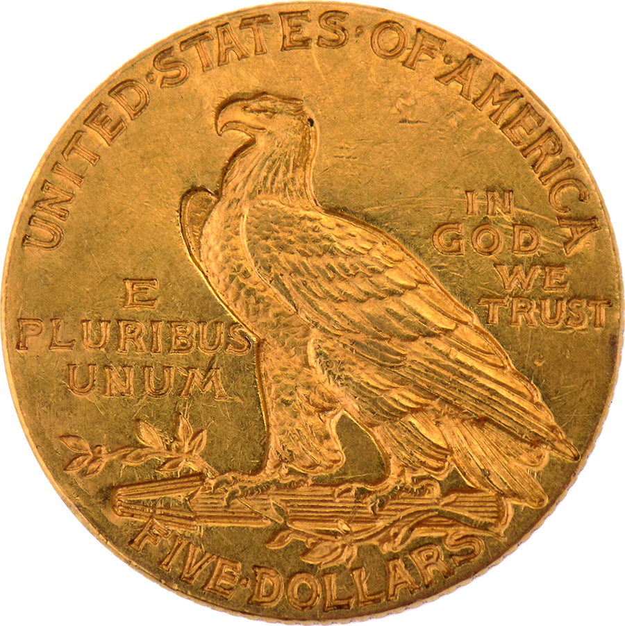 Pre Owned 1911 Usa 5 Half Eagle Indian Head Gold Coin
