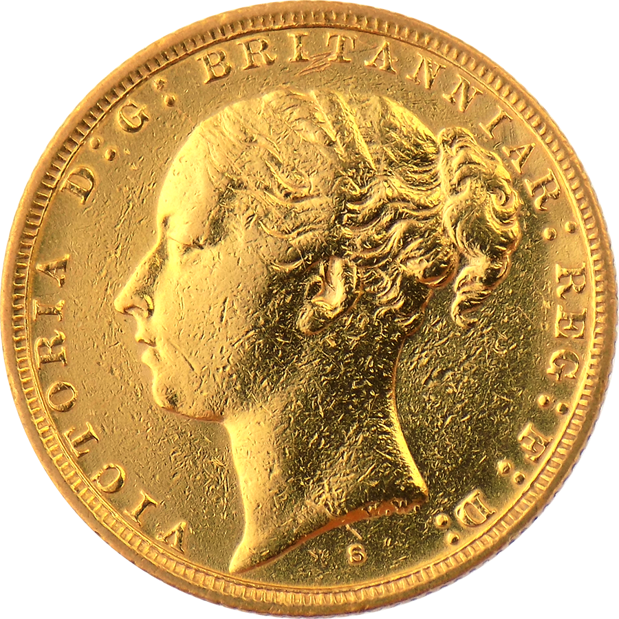 Pre-Owned 1881 Sydney Mint Victorian Full Sovereign Gold Coin