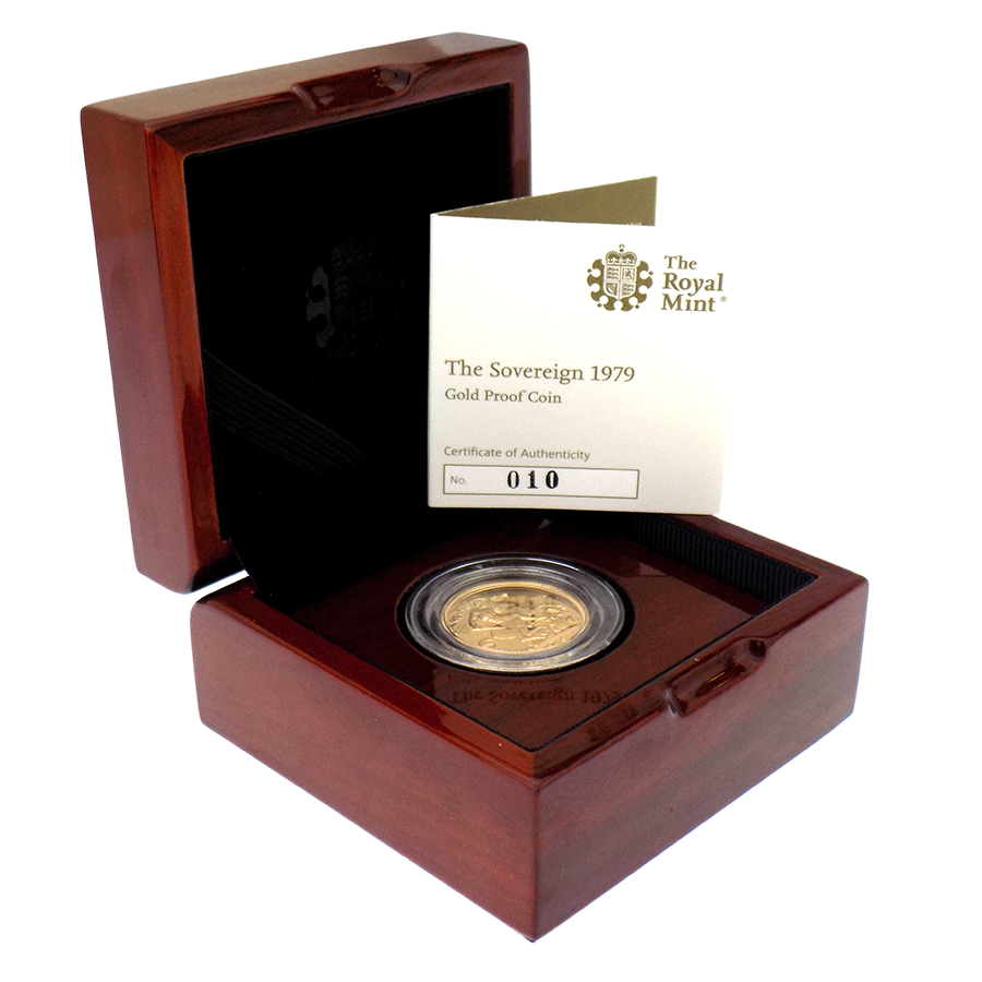 Pre-Owned 1979 UK Elizabeth ll 40th Anniversary Proof Full Sovereign Gold Coin