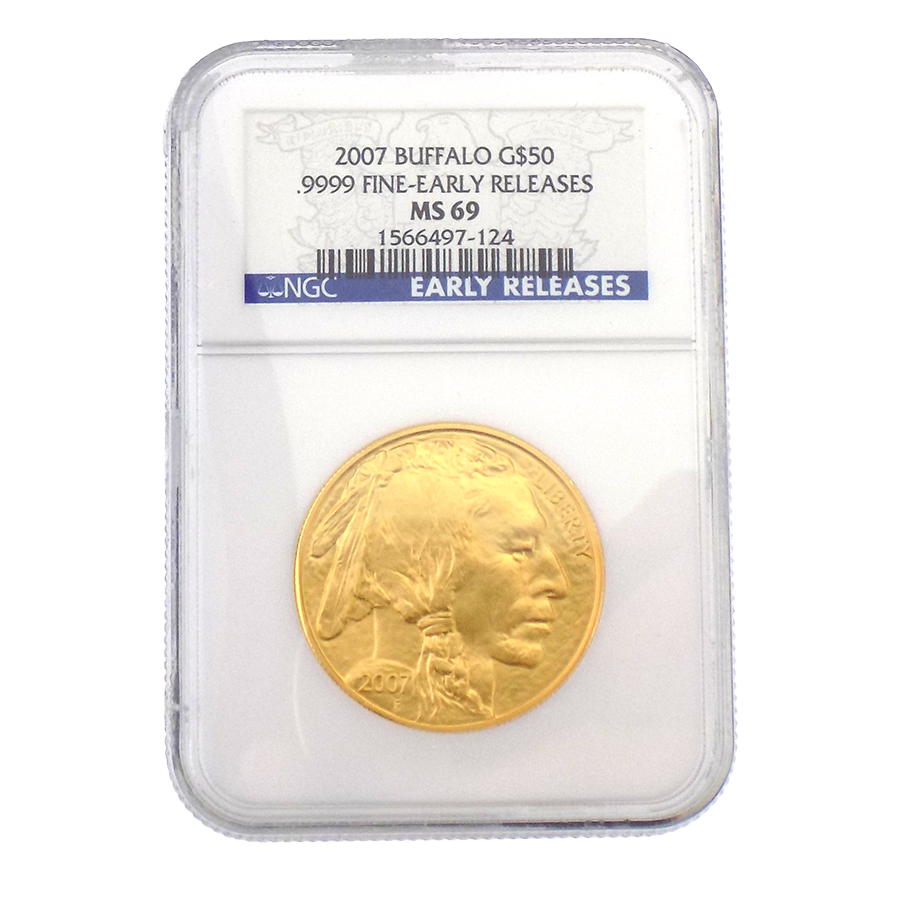 Pre-Owned 2007 USA Buffalo 1oz Gold Coin NGC Graded MS 69 - 1566497-124